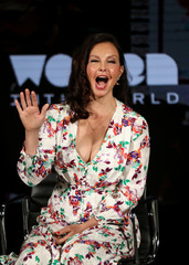 Actress Ashley Judd speaks on stage at the Women In The World Summit in New York