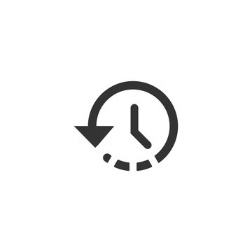 Time icon in simple design. Vector illustration