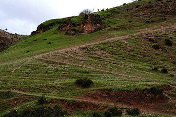 hill slope in atlas mountains
