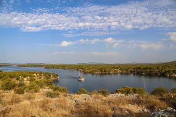 Channel of St. Anthony at Sibenik in Croatia