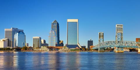 Jacksonville, Florida Skyline and Main Street Bridge