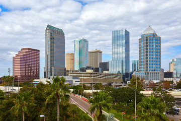 Tampa, Florida Skyline in January 2019
