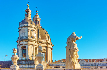 Wall Mural - Domes of Cathedral in Catania