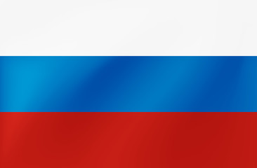 Vector Russian national flag with wavy texture in EPS10.
