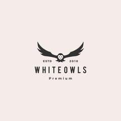 white owl logo vector icon illustration