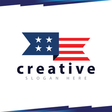 Flag Campaign logo vector template