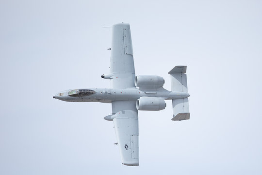 Close view of an A-10 Thunderbolt II