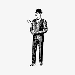 Gentleman in formal clothing
