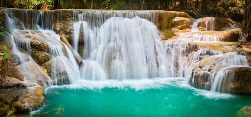 Recess Fitting Waterfalls Beautiful waterfall Huai Mae Khamin, Thailand. Panorama