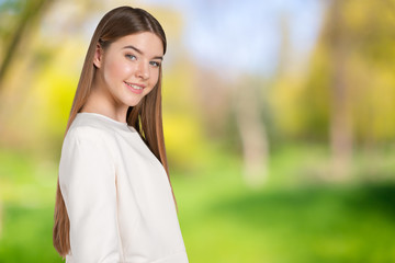 Portrait of confident young woman standing