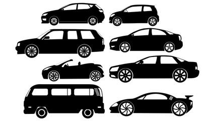 black color car sticker icons