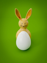 sweet Easter decoration bunny with egg
