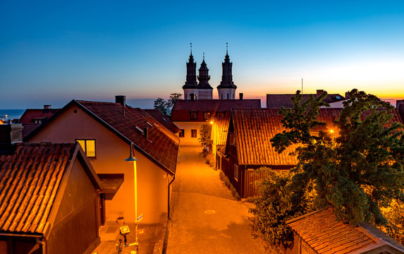 The ancient city of Visby on the island of Gotland in Sweden
