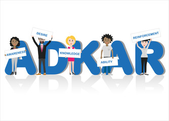business people representing the ADKAR methodology