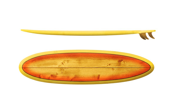 Vintage wood surfboard