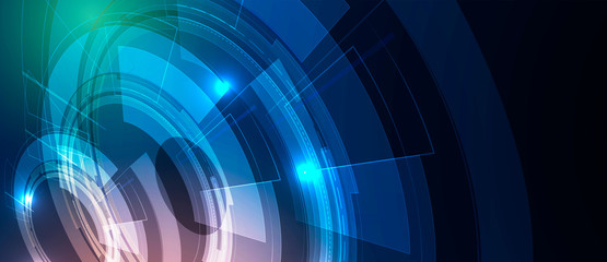 Abstract tech background. Futuristic technology interface