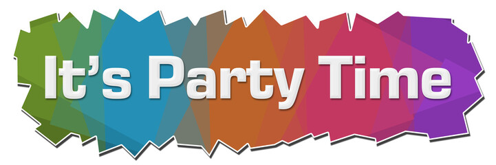 Its Party Time Colorful Background Cutout Horizontal