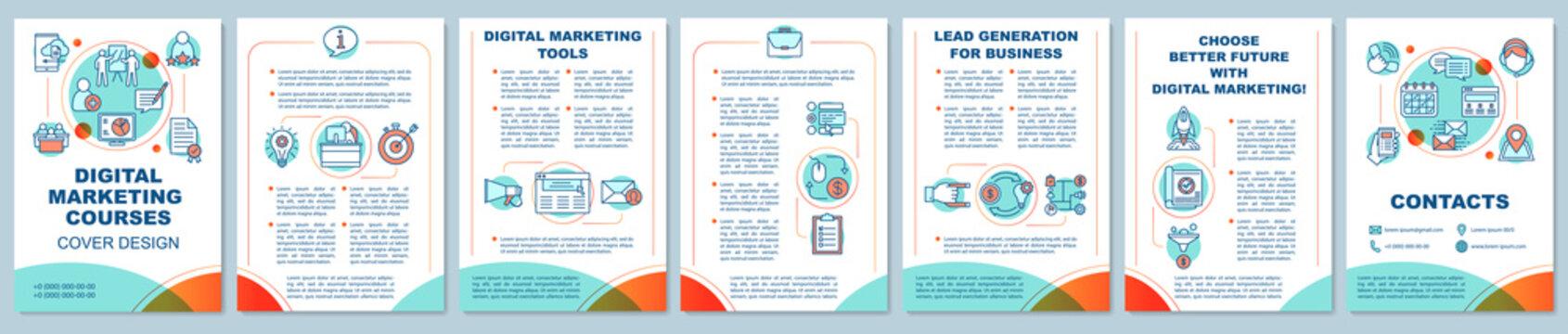 Digital marketing education brochure template layout