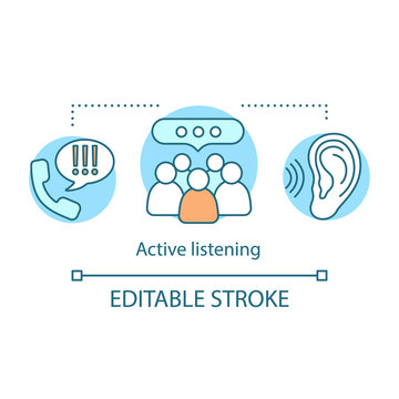 Active listening concept icon