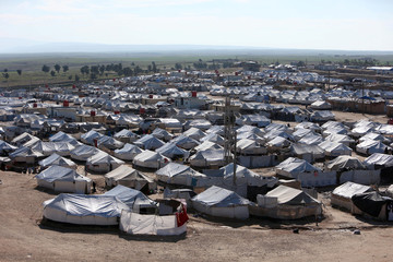 A general view of al-Hol displacement camp in Hasaka governorate