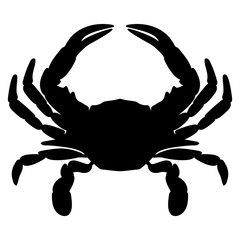 Crab Silhouette Isolated Vector Illustration