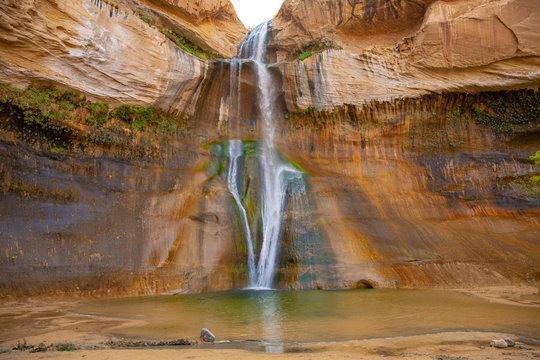 Lower Calf Creek Falls in Grand Staircase-Escalante National Monument , Utah, USA