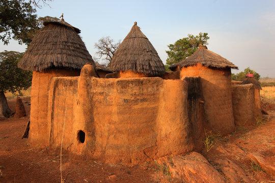 Betammaribe house with granery, Benin