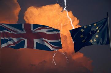 Gewitter und Blitz über Brexit