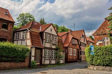Fotomurales - Altstadt von Lauenburg, Deutschland