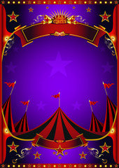 Purple circus poster