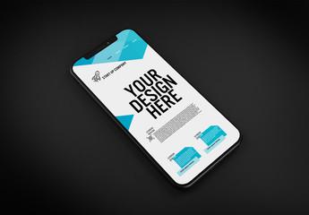 Smartphone Mockup on Black Background