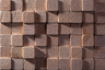 background of colored wooden squares