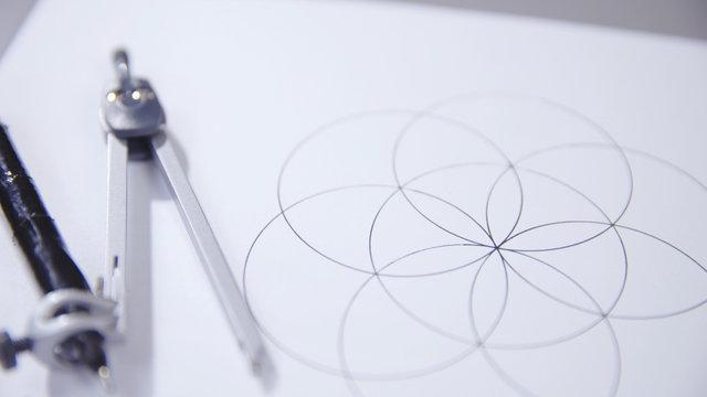 Compass drawn circles