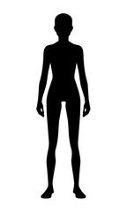 Silhouette woman figure pattern. Black ideal image