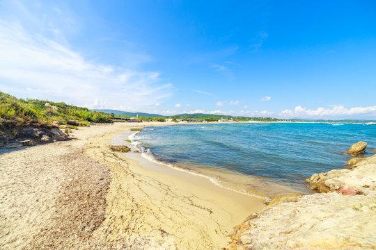A Pampelone beach near Saint Tropez, Cote d'Azur, France