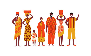 Obraz Isolated diverse african people group - fototapety do salonu