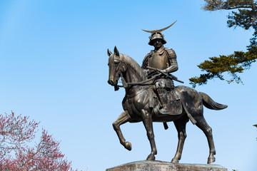 仙台市青葉城址の伊達政宗公騎馬像