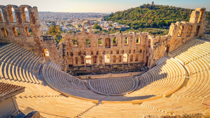 Tuinposter Athene Theatre of Dionysus, Athens, Greece