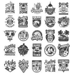 Vintage surfing sport labels