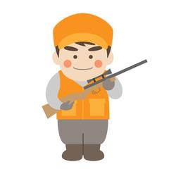 男性キャラクター猟師
