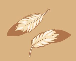 Subtle Eagle Feather Design Elements