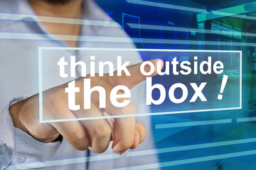 Think Outside The Box, Motivational Words Quotes Concept