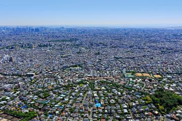 郊外の高級住宅地/田園調布、航空写真