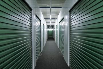 Hallway storage units  Wall mural