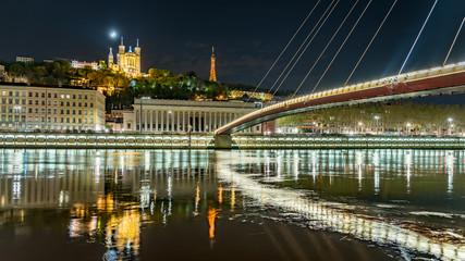 View on Saône in Lyon