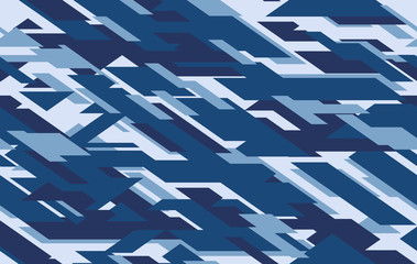 Camouflage seamless pattern. Vector geometric camo background