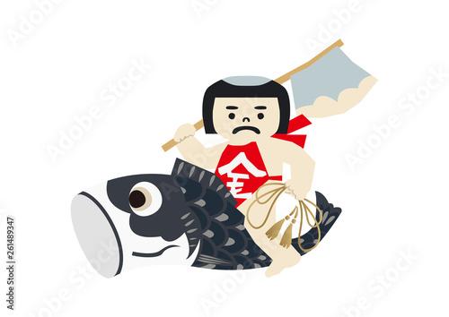端午の節句のイメージ 日本の季節のイラスト 五月人形こどもの日の