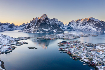 Sonnenuntergang am Polarkreis