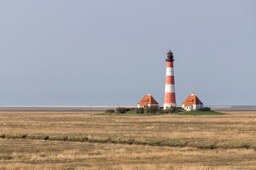Leuchtturm Westerheversand in Schleswig-Holstein, Deutschland