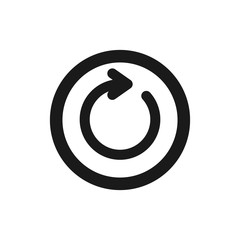 Refresh icon. Restart icon. Circle arrow vector illustration symbolizes refresh.